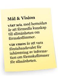 Vårt mål och vision